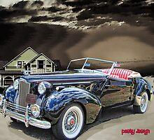 38 Packard On The Beach by Mike Pesseackey (crimsontideguy)
