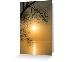 Framing the Golden Sun Greeting Card