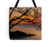 Colorful Quiet Sunrise on the Lake  Tote Bag