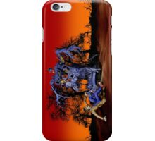 Weird Cursed British blue Phone box Monster iPhone Case/Skin