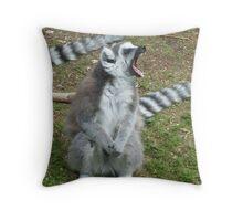 The anger of the Ring-Tailed Lemur - Monkey World, Dorset  Throw Pillow