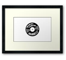 Coffee and Rap Framed Print