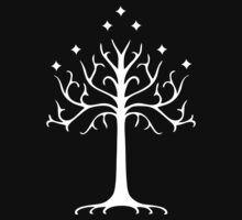 tree of gondor, lord of the rings, white by AnnaGo