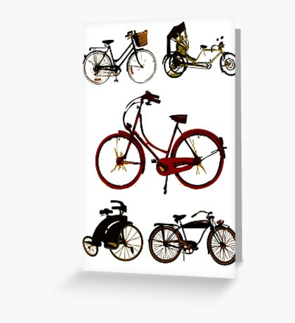 Classic bicycles Greeting Card