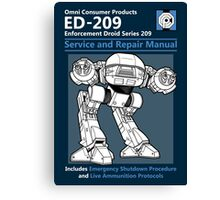ED-209 Service and Repair Manual Canvas Print