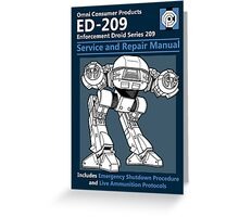 ED-209 Service and Repair Manual Greeting Card
