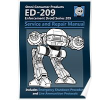 ED-209 Service and Repair Manual Poster