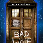 Old Rustic wood Phone box with Bad Wolf typograph by Arief Rahman Hakeem