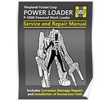Power Loader Service and Repair Manual Poster