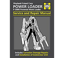 Power Loader Service and Repair Manual Photographic Print
