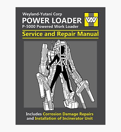 Power Loader Service and Repair Manual Photographic Print