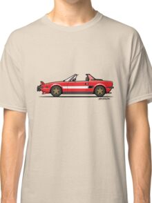 Fiat Bertone X1/9 Orange Stripes Classic T-Shirt