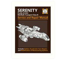 Shiny Service and Repair Manual Art Print