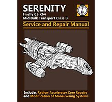 Shiny Service and Repair Manual Photographic Print