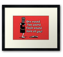 One Wound, Two Wound Framed Print