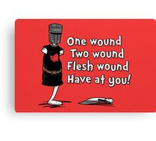 One Wound, Two Wound Canvas Print