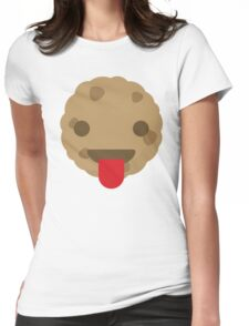 Cookie Emoji Tongue Out Womens Fitted T-Shirt