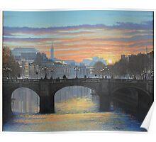 OCONNELL BRIDGE DUBLIN Poster