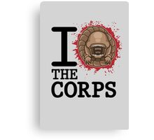 I Love The Corps Canvas Print