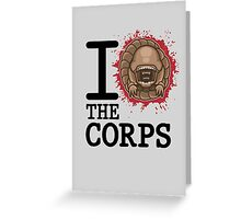 I Love The Corps Greeting Card