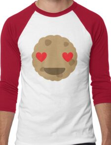 Cookie Emoji Heart and Love Eyes Men's Baseball ¾ T-Shirt