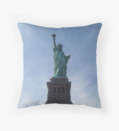 Lady Liberty - New York City, USA Throw Pillow