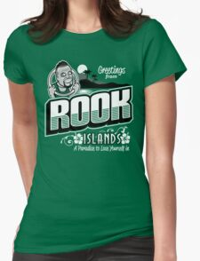 Greetings from Rook Islands Womens Fitted T-Shirt