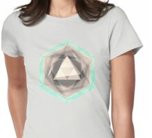 Jewel Lines 2 - Jade & Charcoal Womens Fitted T-Shirt
