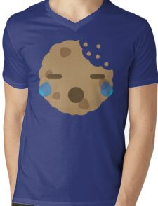 Cookie Emoji with Teary Eyes and Sad Look Mens V-Neck T-Shirt