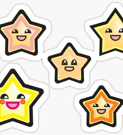 Anime stars Sticker