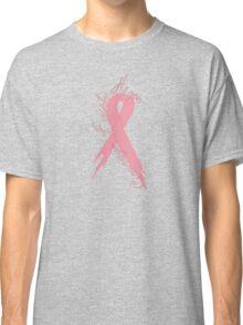 Breast Cancer Courage Faith Hope Ribbon V Neck Shirt Classic T-Shirt