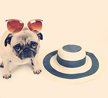 Pug's Summer by NJMphotography
