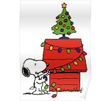 Christmas snoopy lights Poster