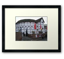 Globe Theatre - London, England Framed Print