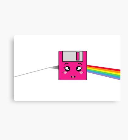 Pink floppy Canvas Print