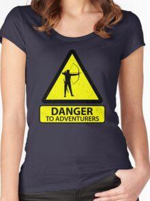 Danger to Adventurers Women's Fitted Scoop T-Shirt