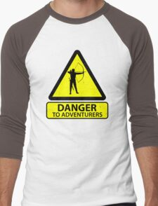 Danger to Adventurers Men's Baseball ¾ T-Shirt