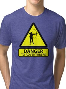 Danger to Adventurers Tri-blend T-Shirt
