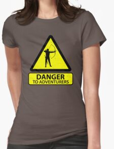 Danger to Adventurers Womens Fitted T-Shirt