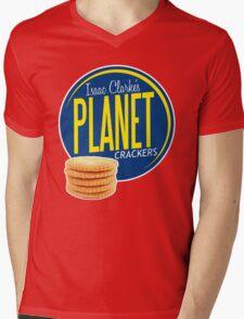 Isaac Clarke's Planet Crackers Mens V-Neck T-Shirt