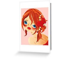 FELICITY ~ Crimson Rouge ~ Greeting Card
