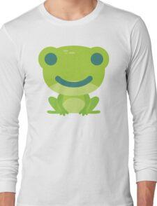 Frog Emoji Happy Smile Look Long Sleeve T-Shirt