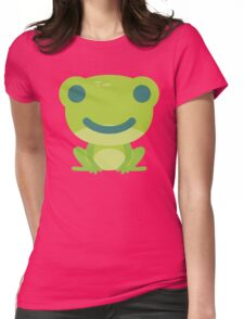 Frog Emoji Happy Smile Look Womens Fitted T-Shirt