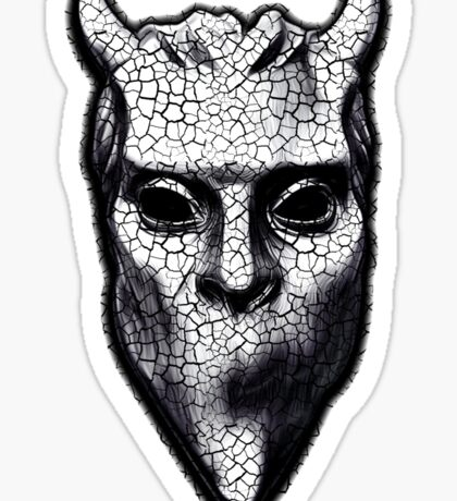 NAMELESS GHOUL - black cracks Sticker