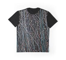 Multicolor Reeds in Blue, Beige and Black Graphic T-Shirt