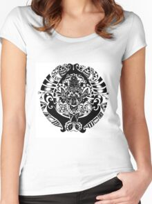 Zentangle Circle Women's Fitted Scoop T-Shirt