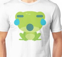 Frog Emoji Teary Eyes and Sad Look Unisex T-Shirt