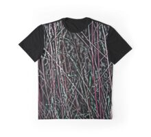Multicolor Reeds in Pink and Green Graphic T-Shirt