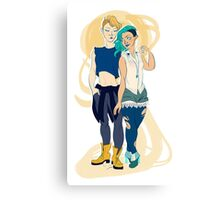 Michiru and Haruka Canvas Print