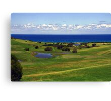 Golf with a view Canvas Print